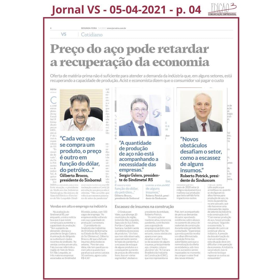 Feed - Jornal VS - 05-04-21