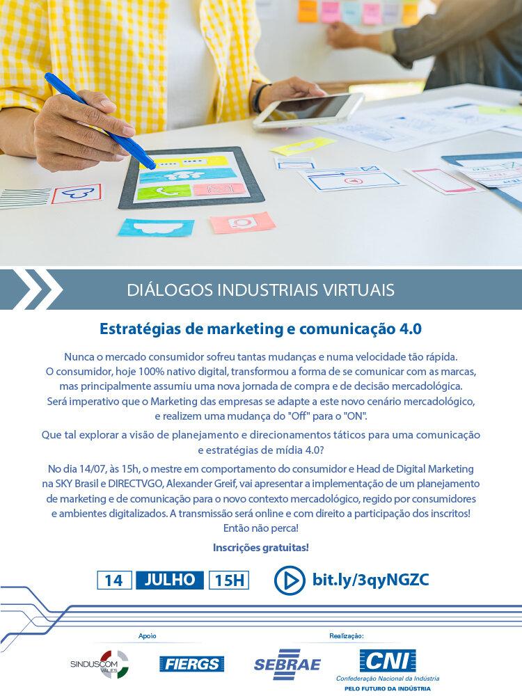 Diálogo Industrial Virtual - Estratégias de marketing e comunicação 4.0 (SINDUSCOM) - email